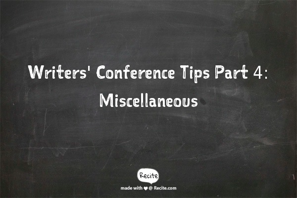 Chalkboard with Elizabeth Newsom's writing tips