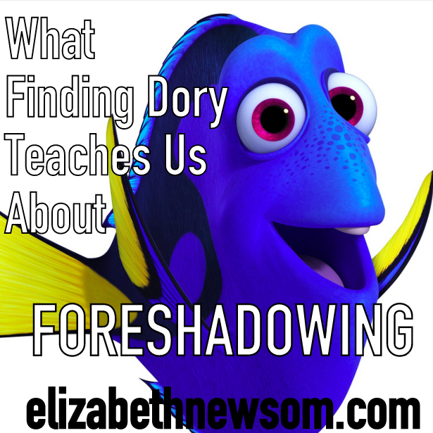 Writing Foreshadowing blue fish dory finding memo