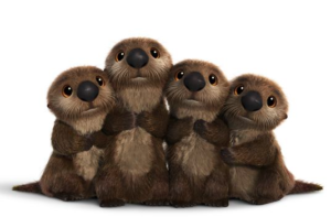 finding Dory otter cuddle time writing