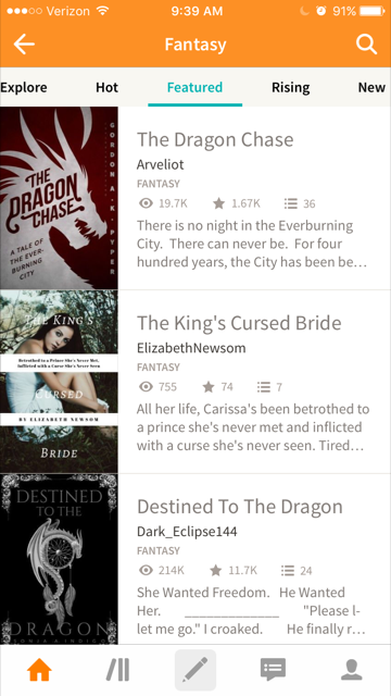 WattPad Featured List