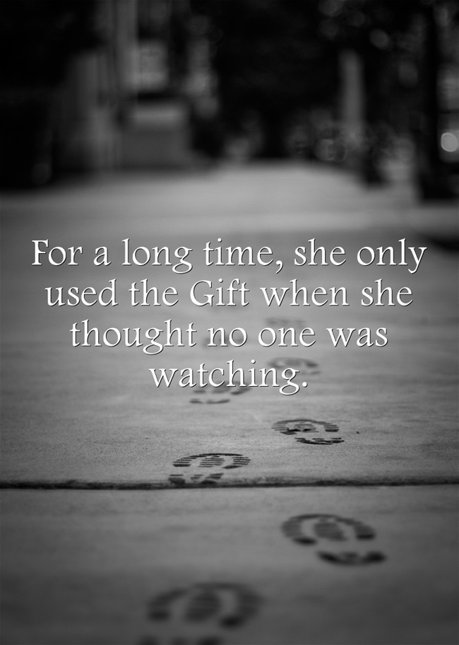 Lonely footprints writing prompt