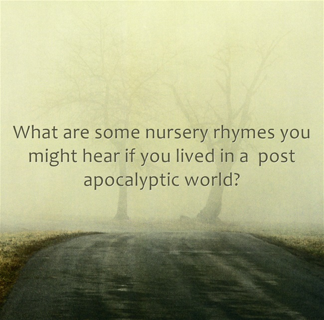 post apocalyptic nursery rhymes with spooky tree background