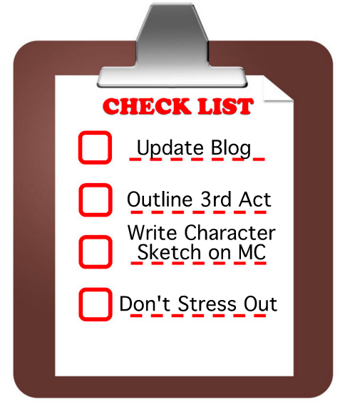 Checklist of writing things to do