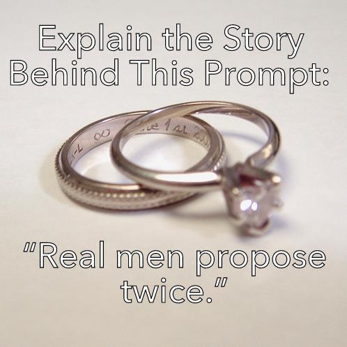 Propose twice prompt romance writing